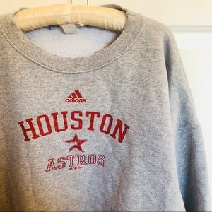 Adidas x Houston Astros gray crewneck sweatshirt